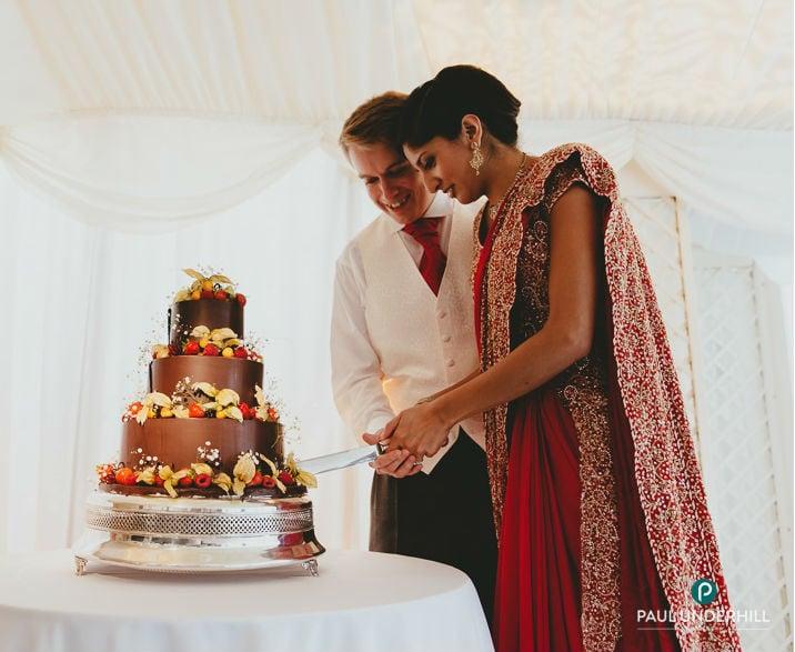Bride & groom at Parley Manor