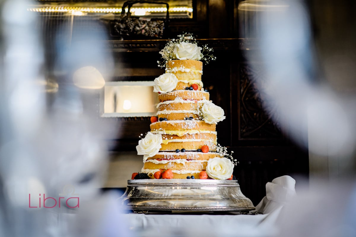 Naked cake photo by Libra Photographic. At LIlly Langtree Hotel.