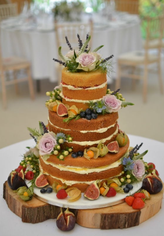 Naked cake at 10 Castle Street