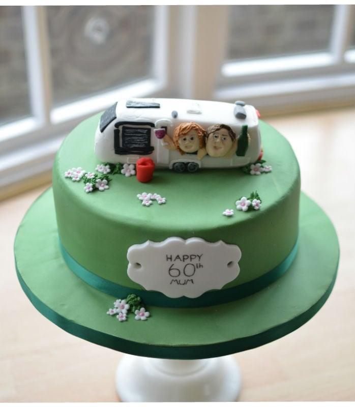 Caravan birthday cake
