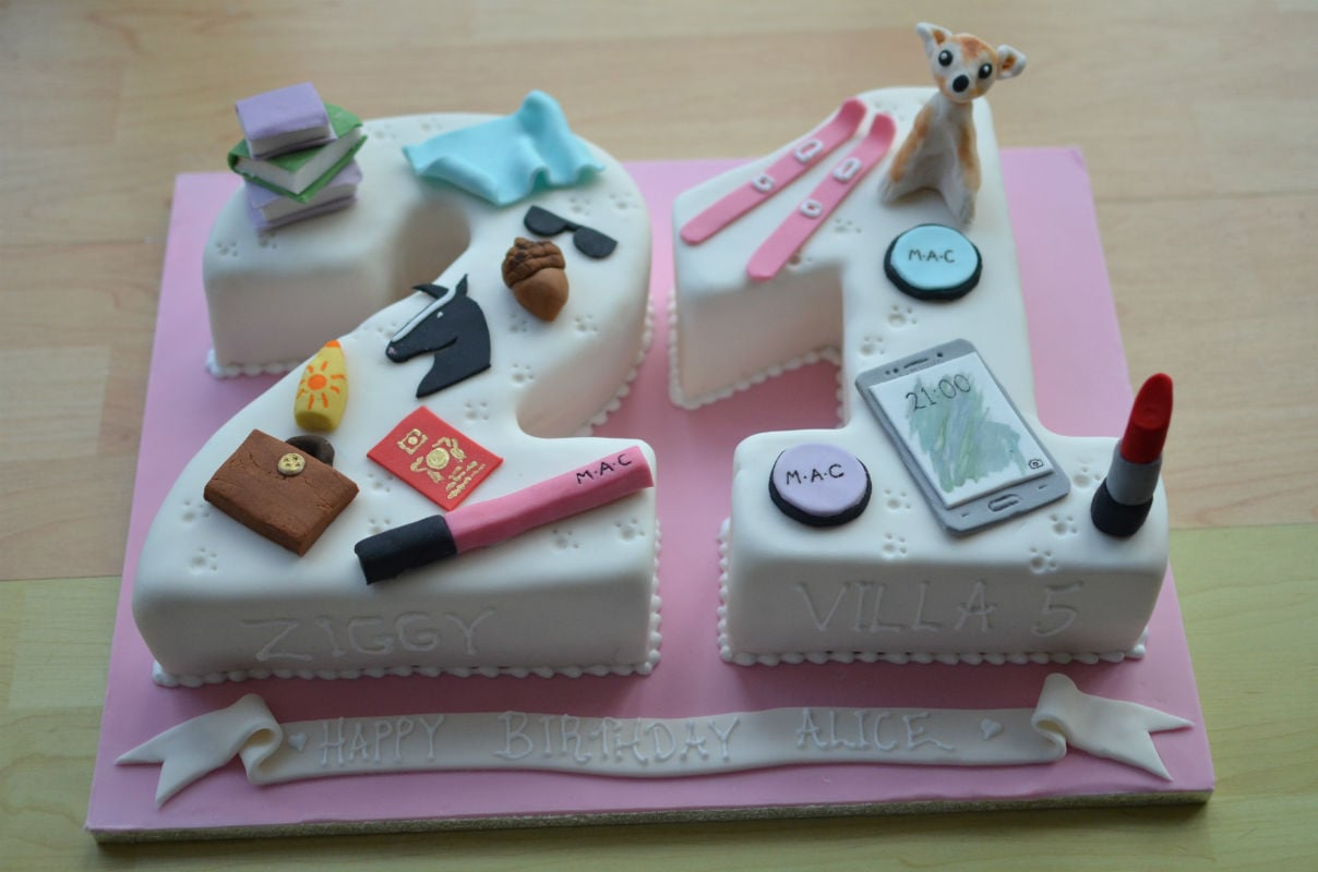 Personalised birthday cake.