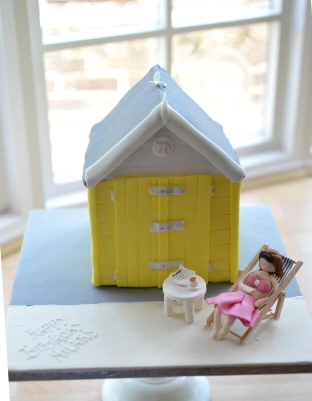 Bournemouth beach hut birthday cake