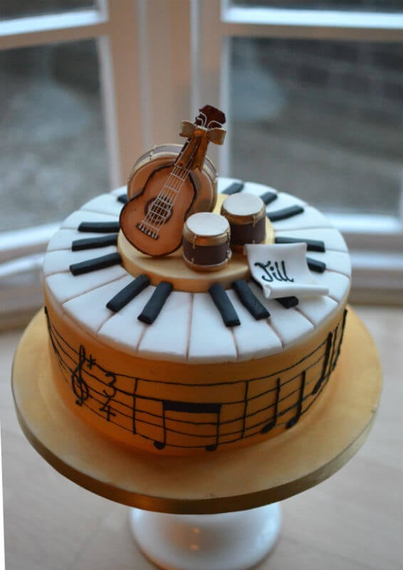 Musical Cake Notes Read Happy Birthday To You