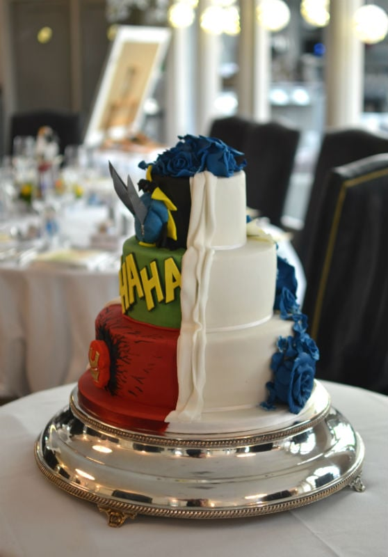 His & Hers wedding cake at The Lord Bute