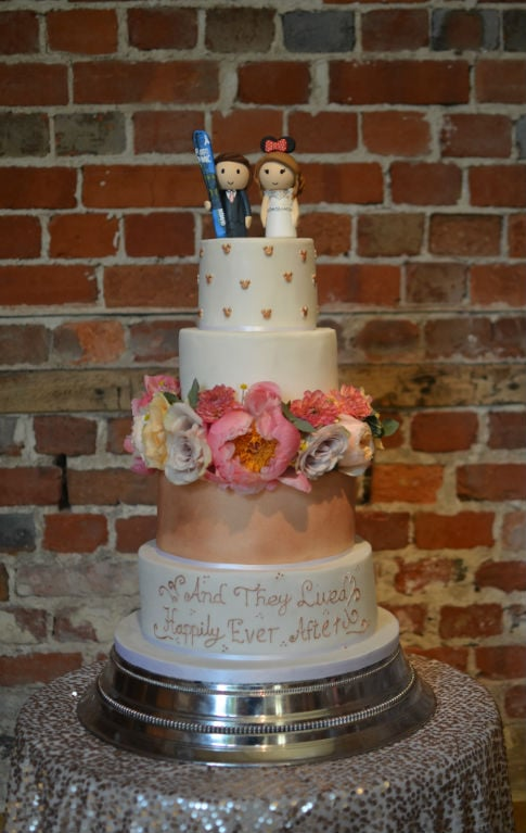 Disney wedding cake at Highcliffe Castle