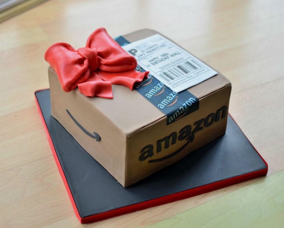Amazon parcel cake