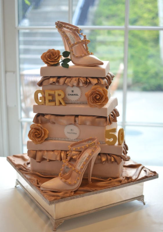 Rockstud Valentino shoe cake at 5* Coworth Park Hotel Ascot.