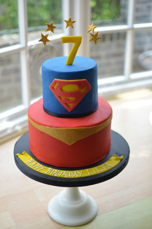 Supergirl! birthday cake