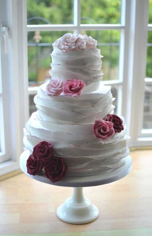 Ruffles wedding cake delivered to The Kings Hotel