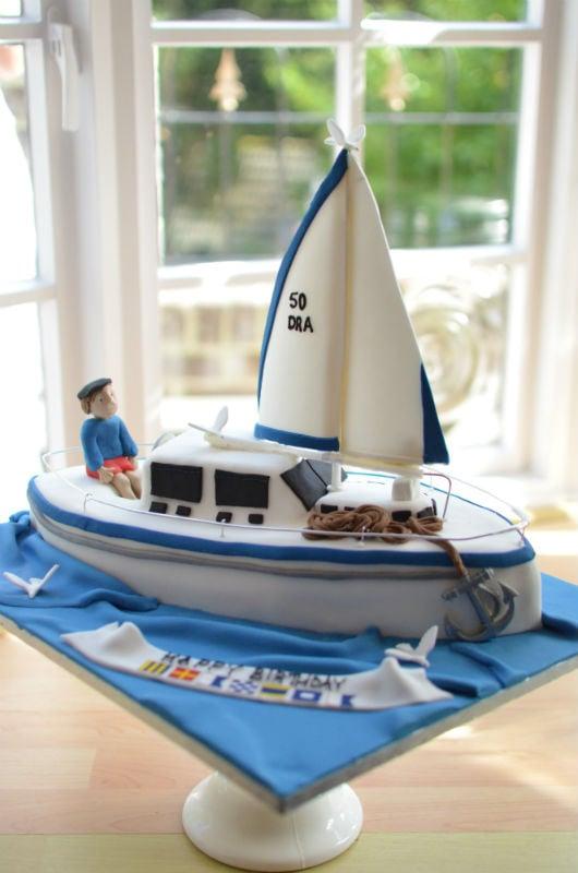 Sailing yacht cake