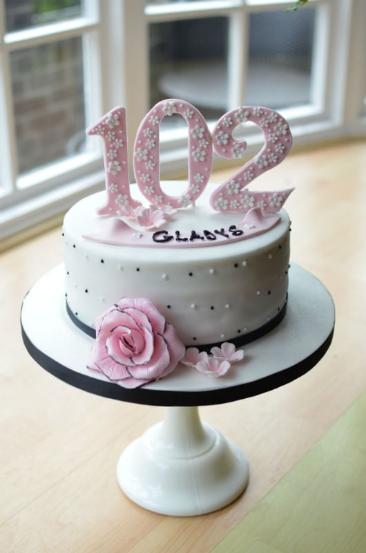 102! birthday cake