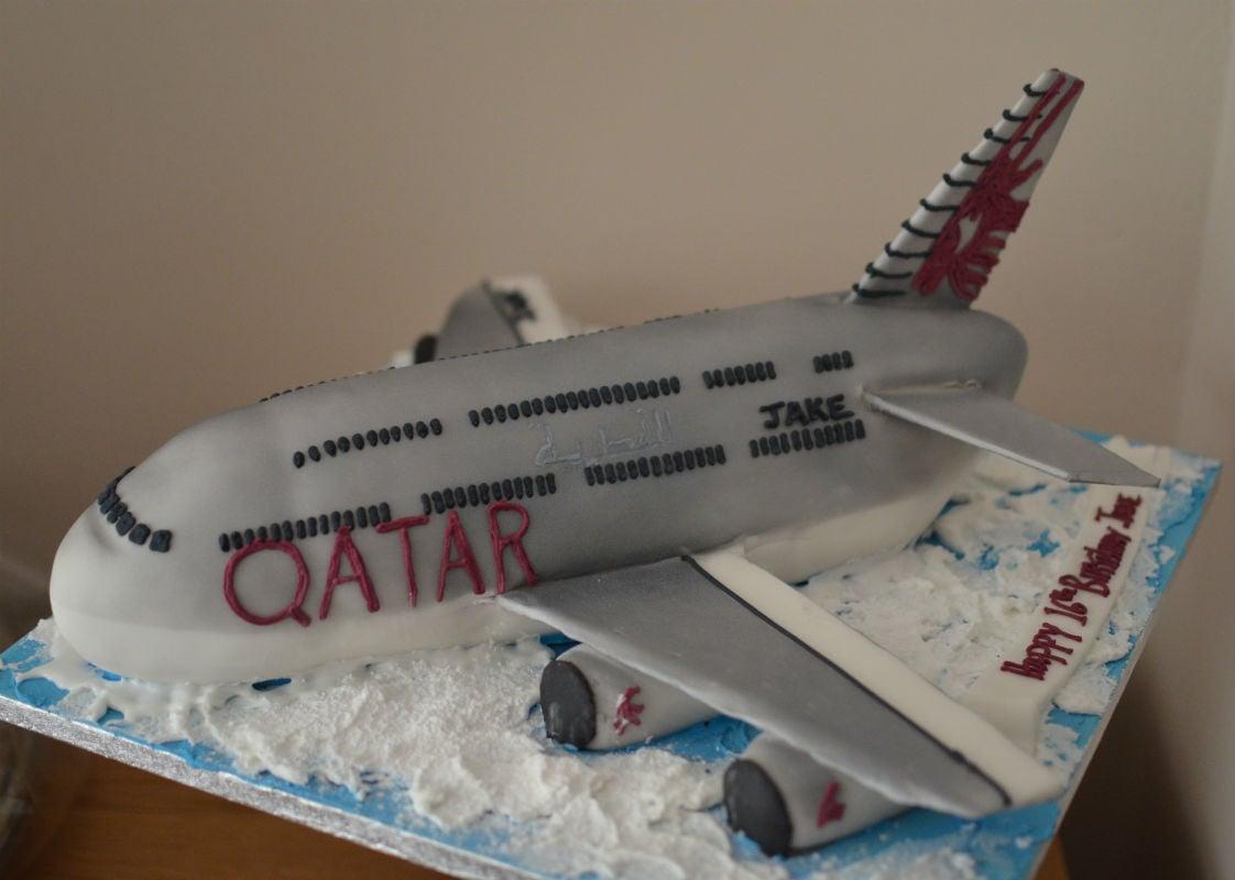 A380 Airbus aeroplane cake