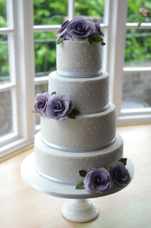 Purple & lilac roses. Delivered to Highcliffe Castle.