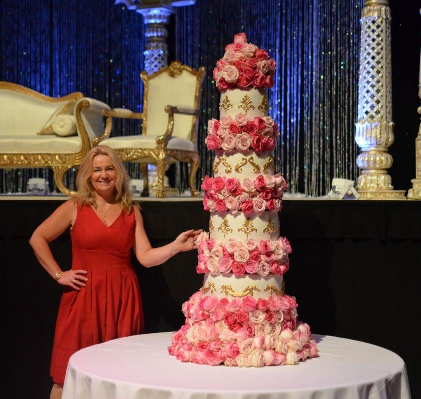 Massive wedding cake at BIC Bournemouth.