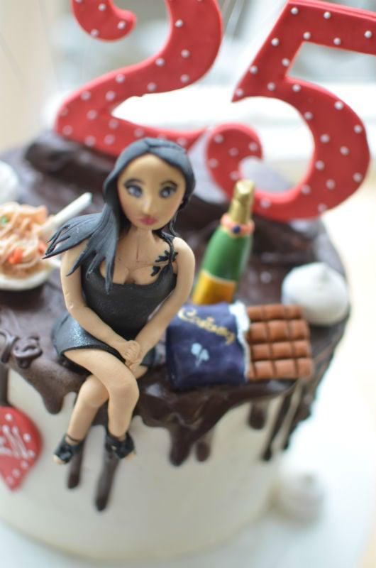 Girlfriend personalised birthday cake