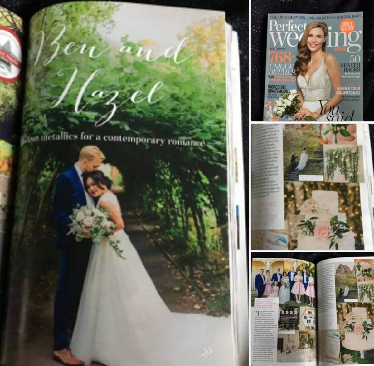 My bride & groom in Perfect Wedding magazine.