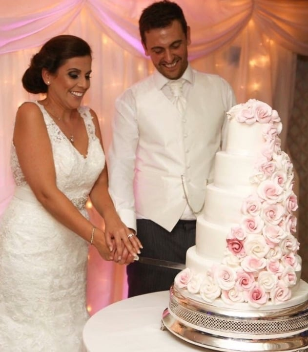 My fabulous bride & groom. At Parley Manor