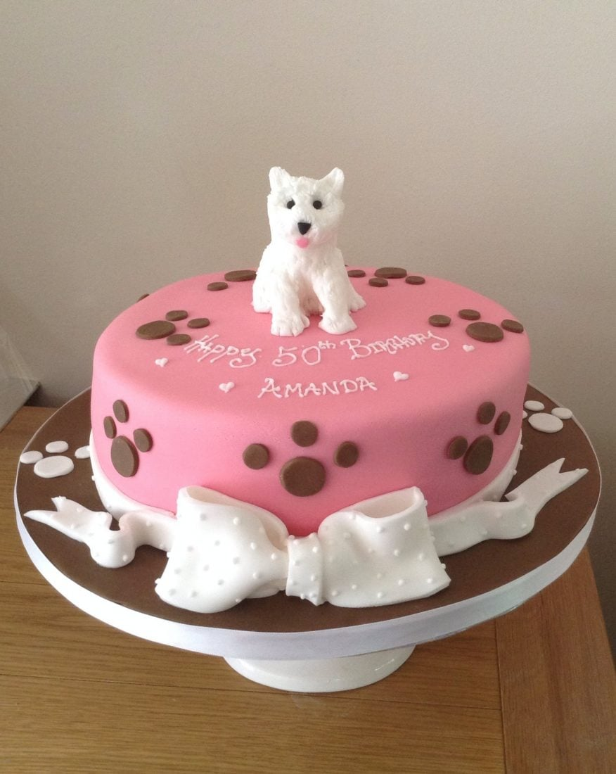 Cake Design For 1st Anniversary : Westie dog lovers cake