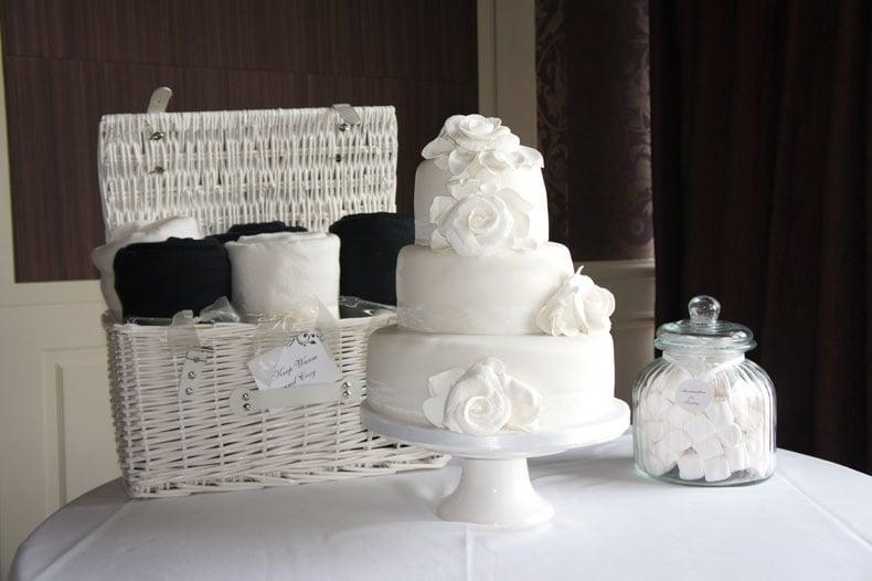 White roses at Chewton Glen Hotel