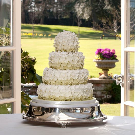 Ruffles wedding cake at Chewton Glen Hotel