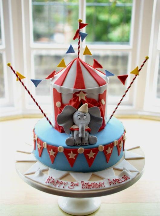 Circus cake with Dumbo