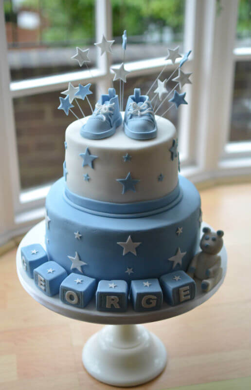 Converse booties Christening cakes