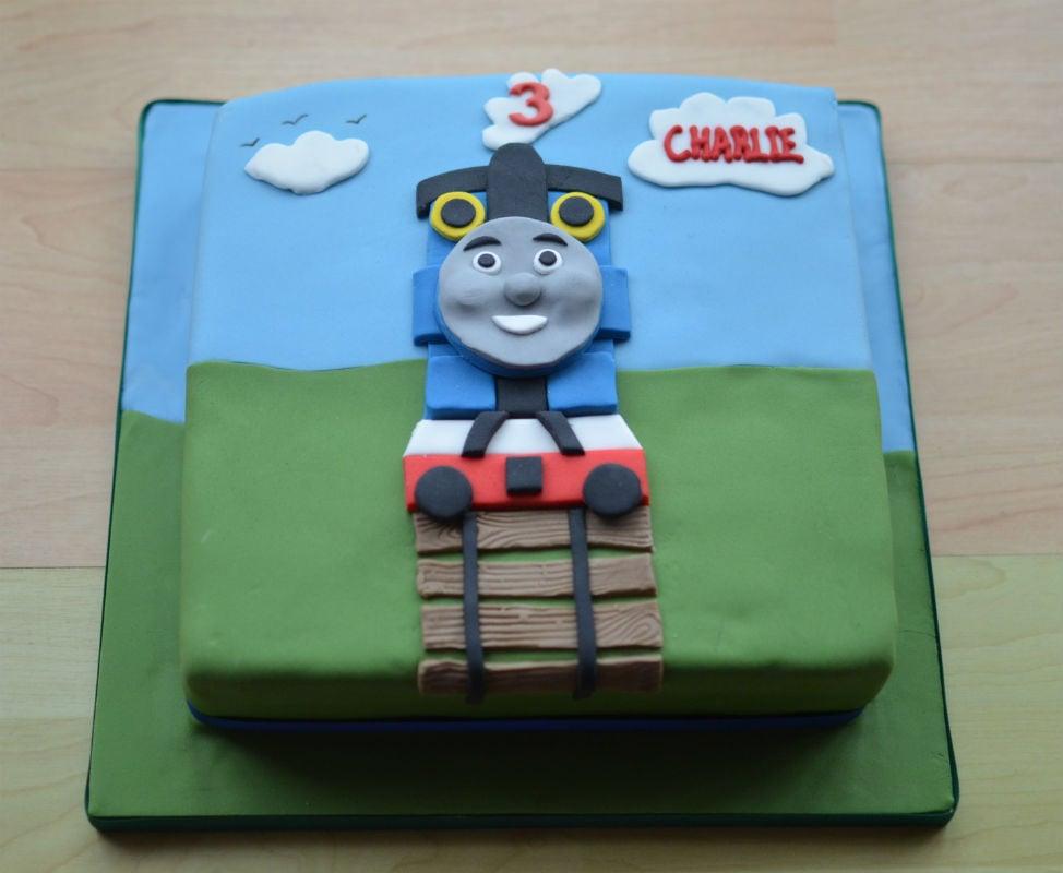 Thomas The tank birthday cake.