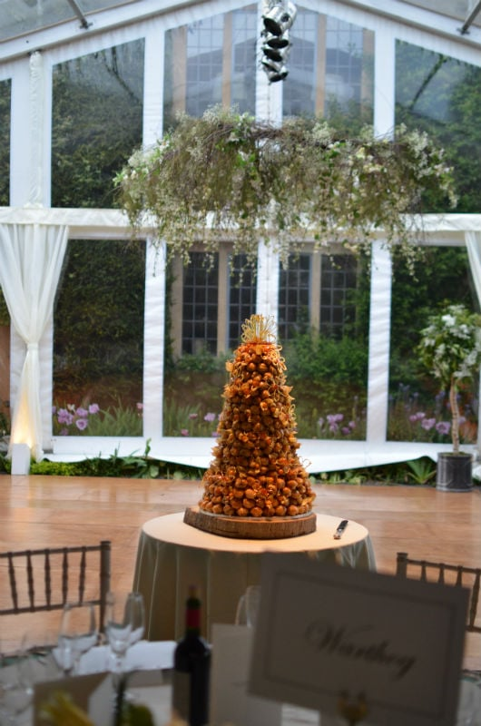 Croquembouche safely delivered to Berkshire