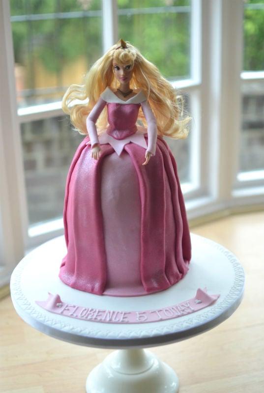 Princess Aurora birthday cake doll