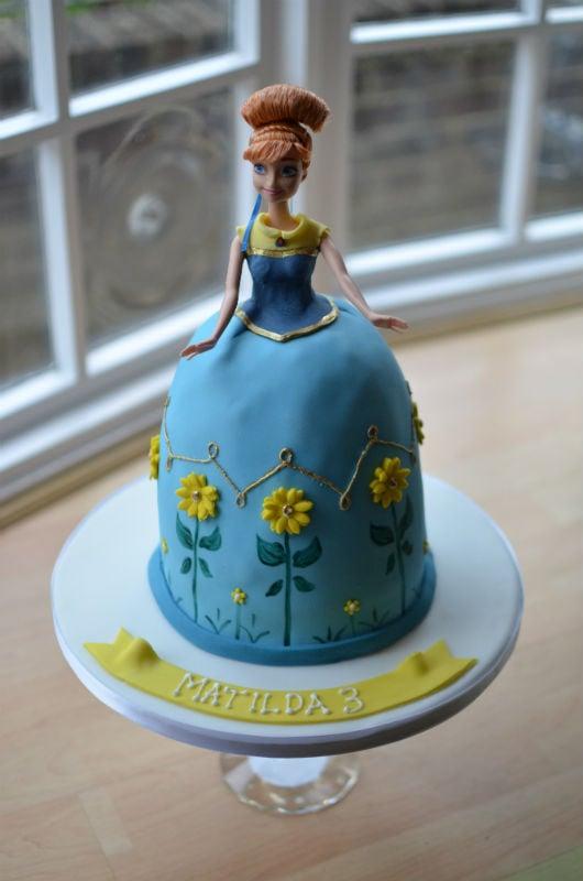 Anna Frozen Fever doll cake