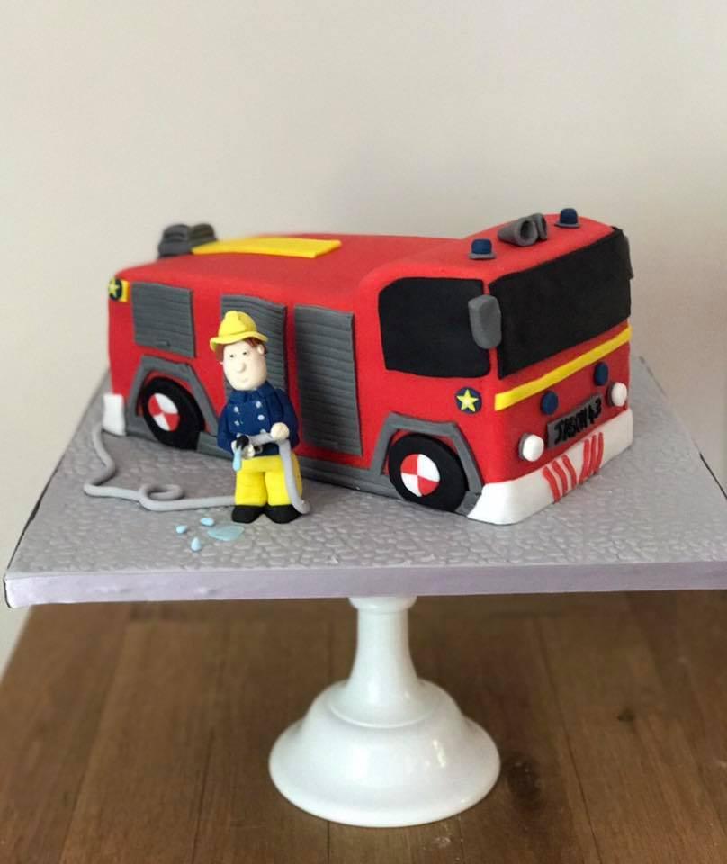 Fire Engine cake, Fireman Sam cake.