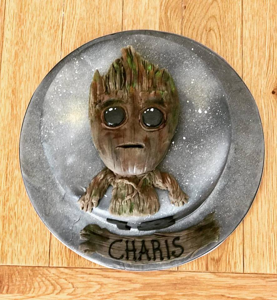 Baby Groot cake. Guardians of the Galaxy